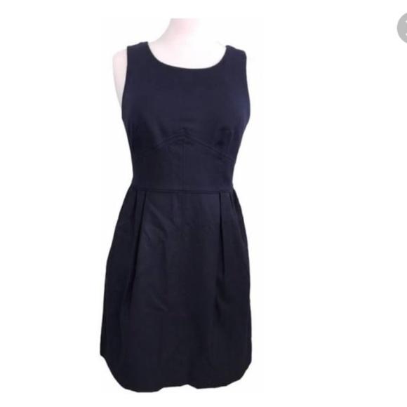 J. Crew Factory Dresses & Skirts - J. Crew Factory Pleated Shift Dress Wool Navy
